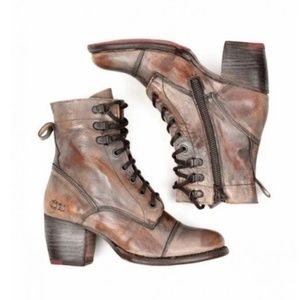 Bed Stu Shoes - Bed Stu Taupe Teak Mason Judgement Combat Boots